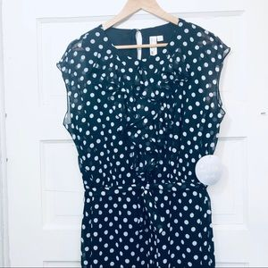 NWT Emma & Michele MIDI Polka Dot Dress Sz 16W